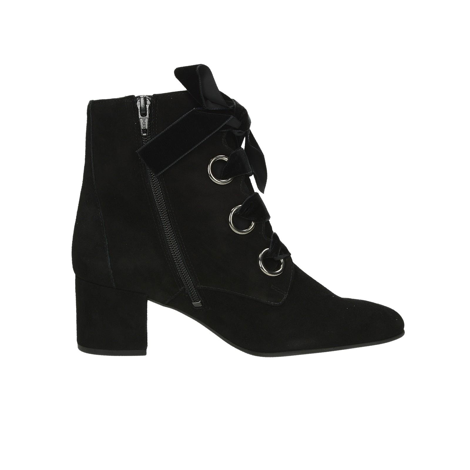 Högl dámské semišové kotníkové boty na zip - černé ... e115fe02db