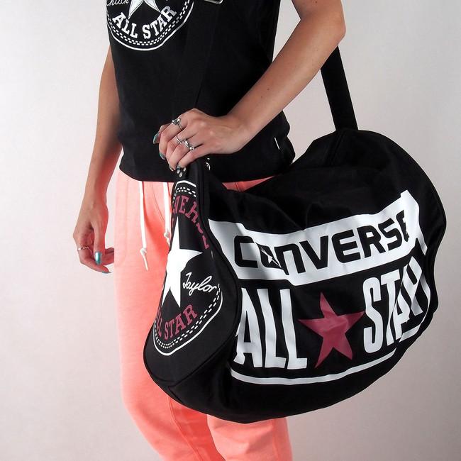 Converse unisex sportovní taška so zipem - černá ... aedff97bc1