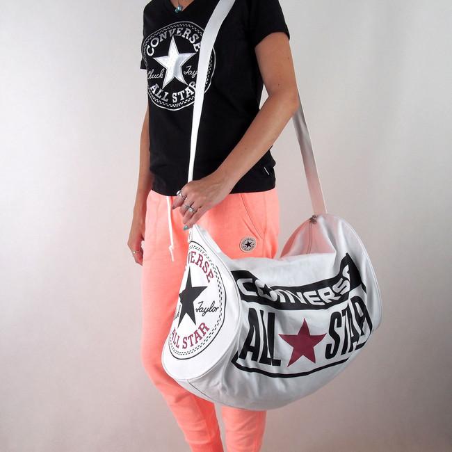 4cfd53450f Kabelky cez rameno. Converse unisex sportovní taška so zipem - bílá ...
