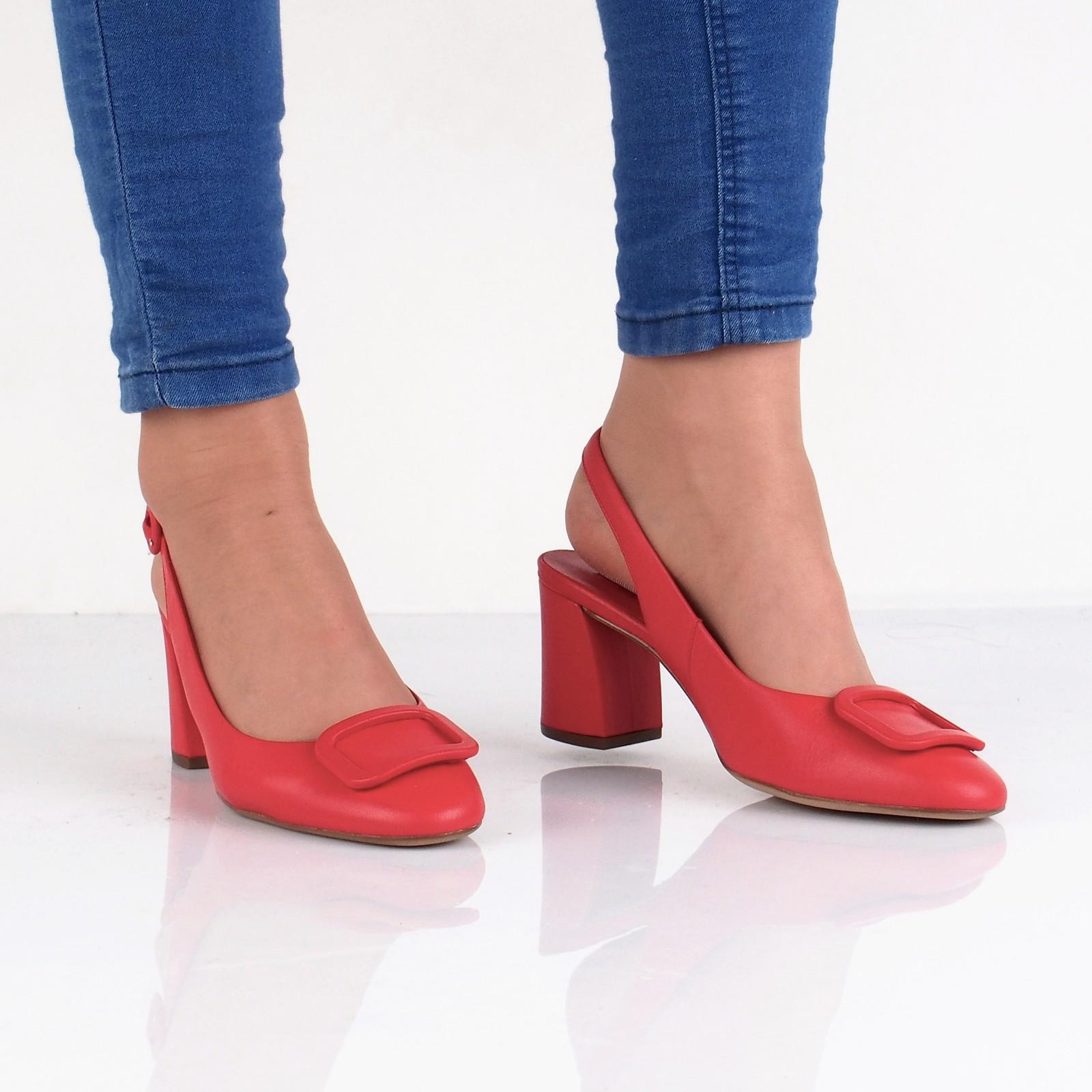 b80b128848 Högl dámské kožené stylové sandály - červené ...