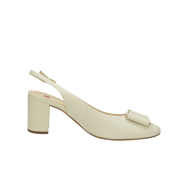Högl dámské kožené sandály s řemínkem - béžové ... b6cc182a6f