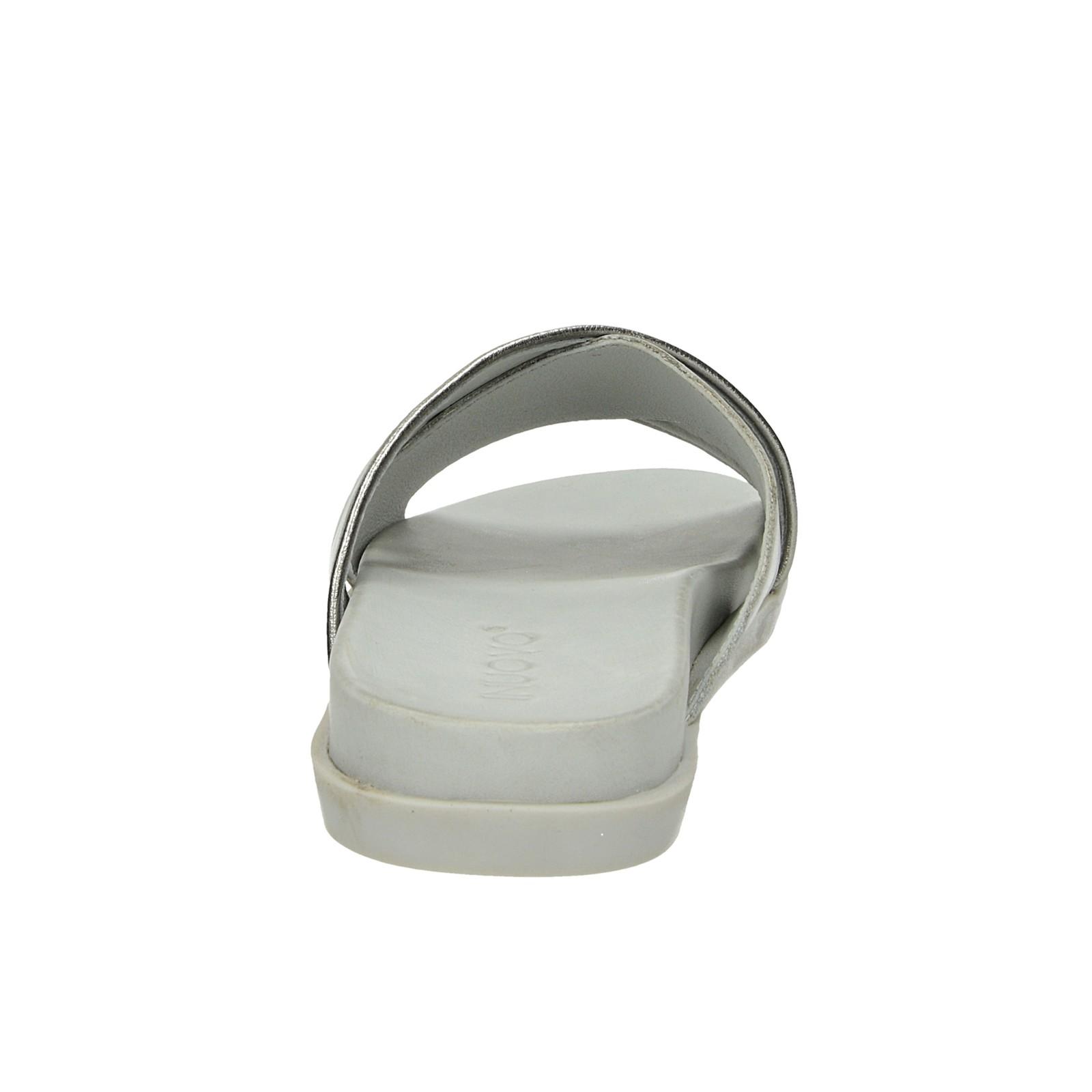 Inuovo dámské kožené nazouváky - šedé
