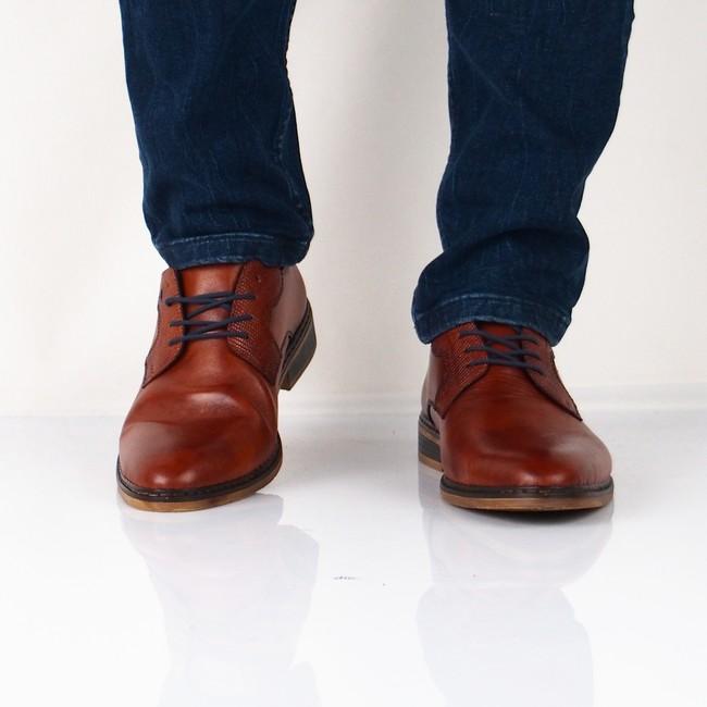 ... Rieker pánské společenské boty - koňakové ... 7b21074b47