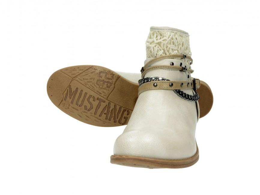 Mustang dámské kotníkové boty - běžové ... 61d4ea3cd8