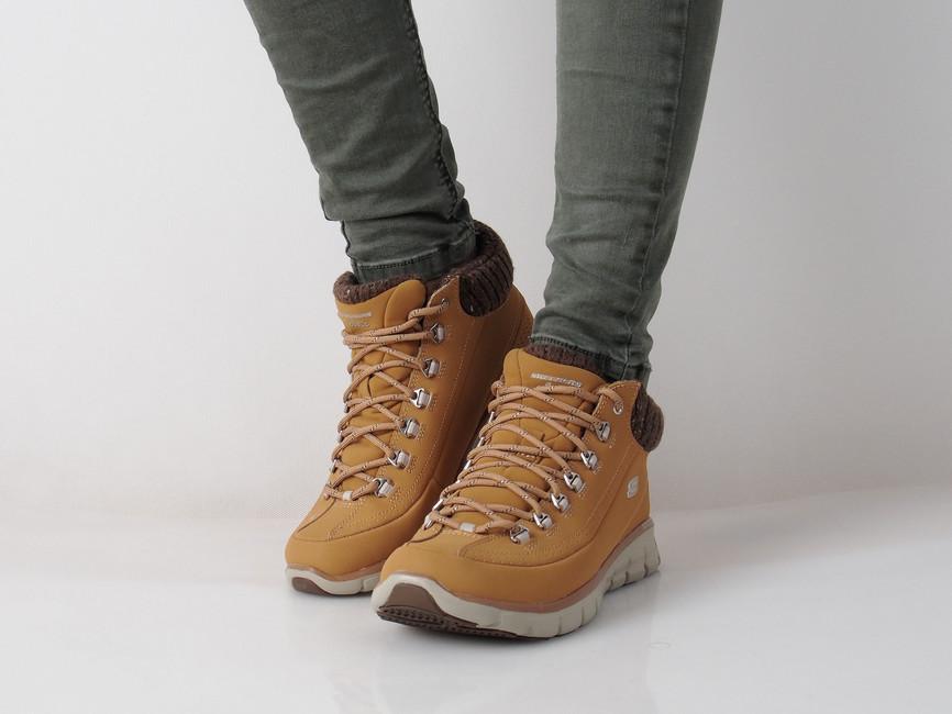 Skechers dámské kotníkové boty na šněrování - žluté ... 8e58ec5fa7