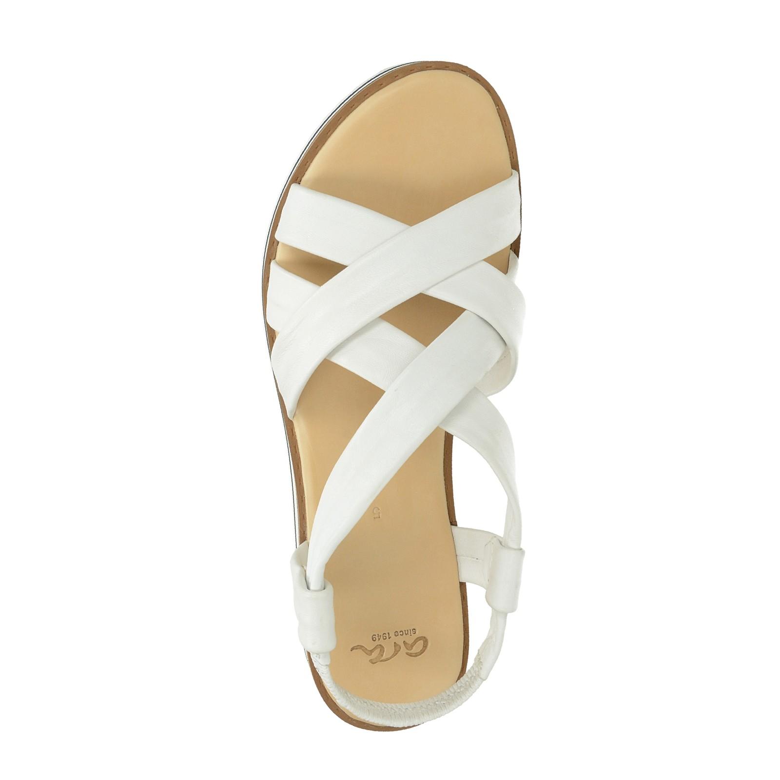Ara dámské kožené stylové sandály - bílé