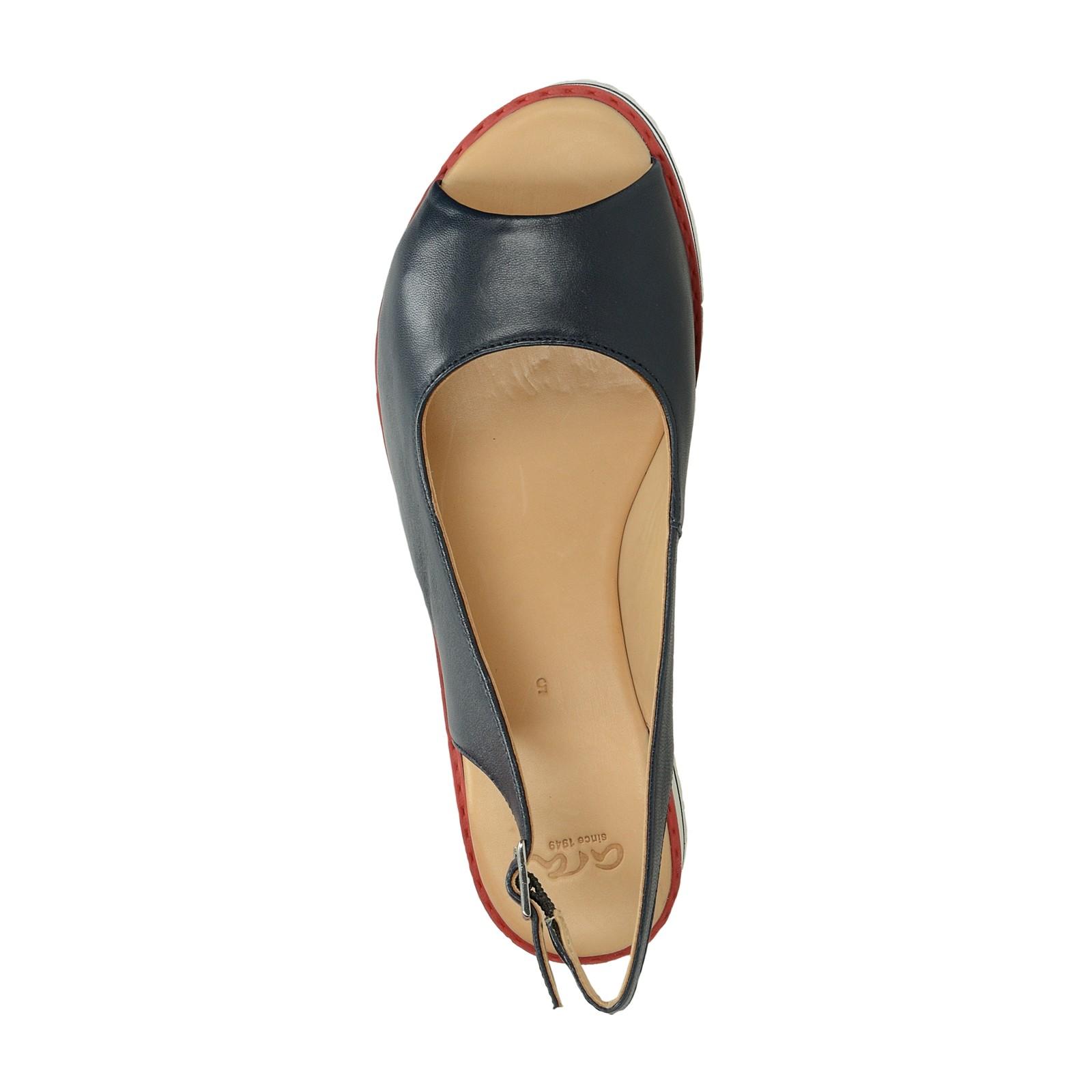 Ara dámské kožené sandály - tmavomodré