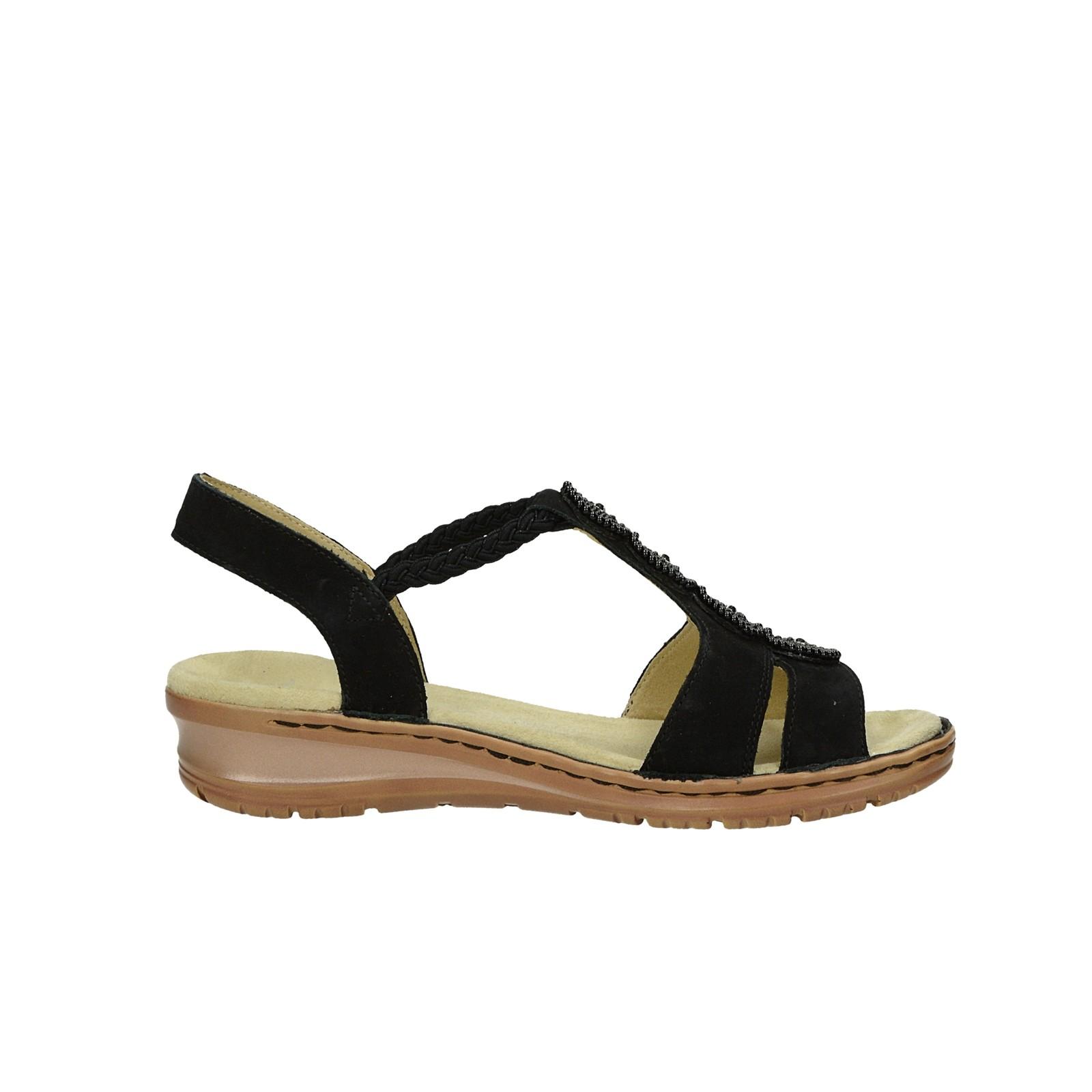 Ara dámské nubukové sandály - černé