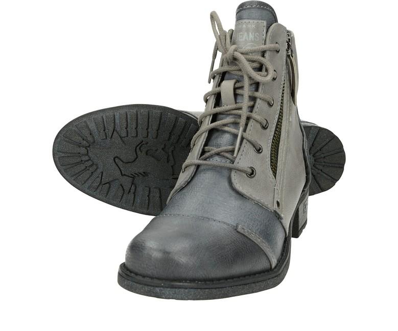 Mustang dámské stylové kotníkové boty - šedé ... 386c35071b