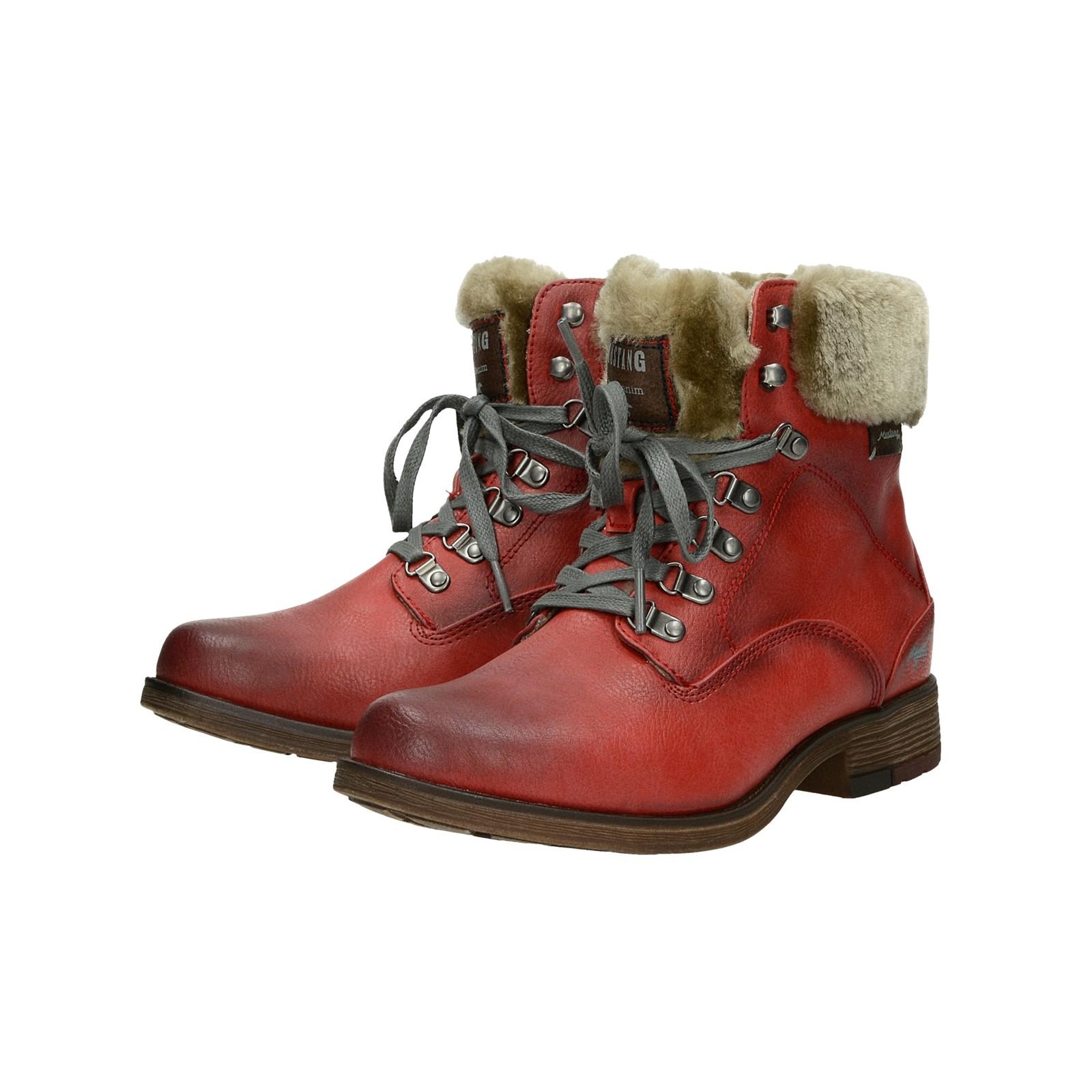 ... Mustang dámské zateplené kotníkové boty - červené ... d504dd799a