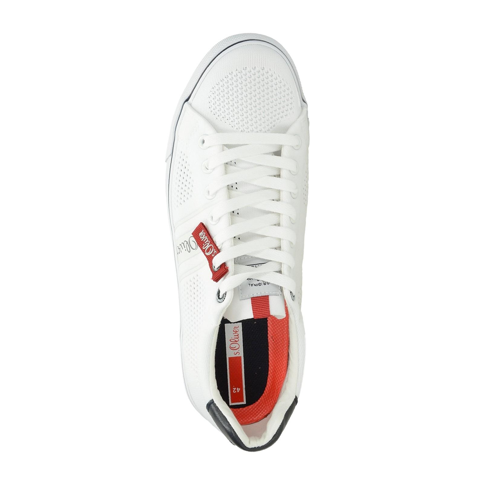 s.Oliver pánské pohodlné tenisky - bílé