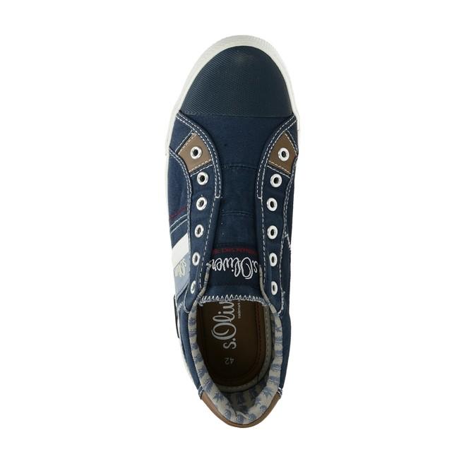 S.Oliver pánské textilní tenisky bez šněrovaní - modré