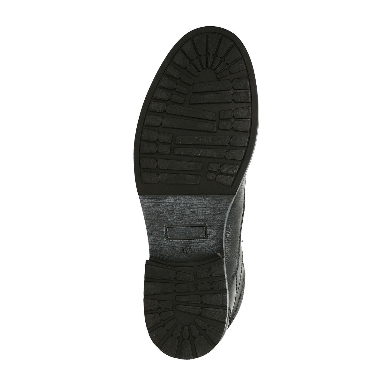 09fcaf62571 Oliver pánská kožená kotníková obuv - černá ...