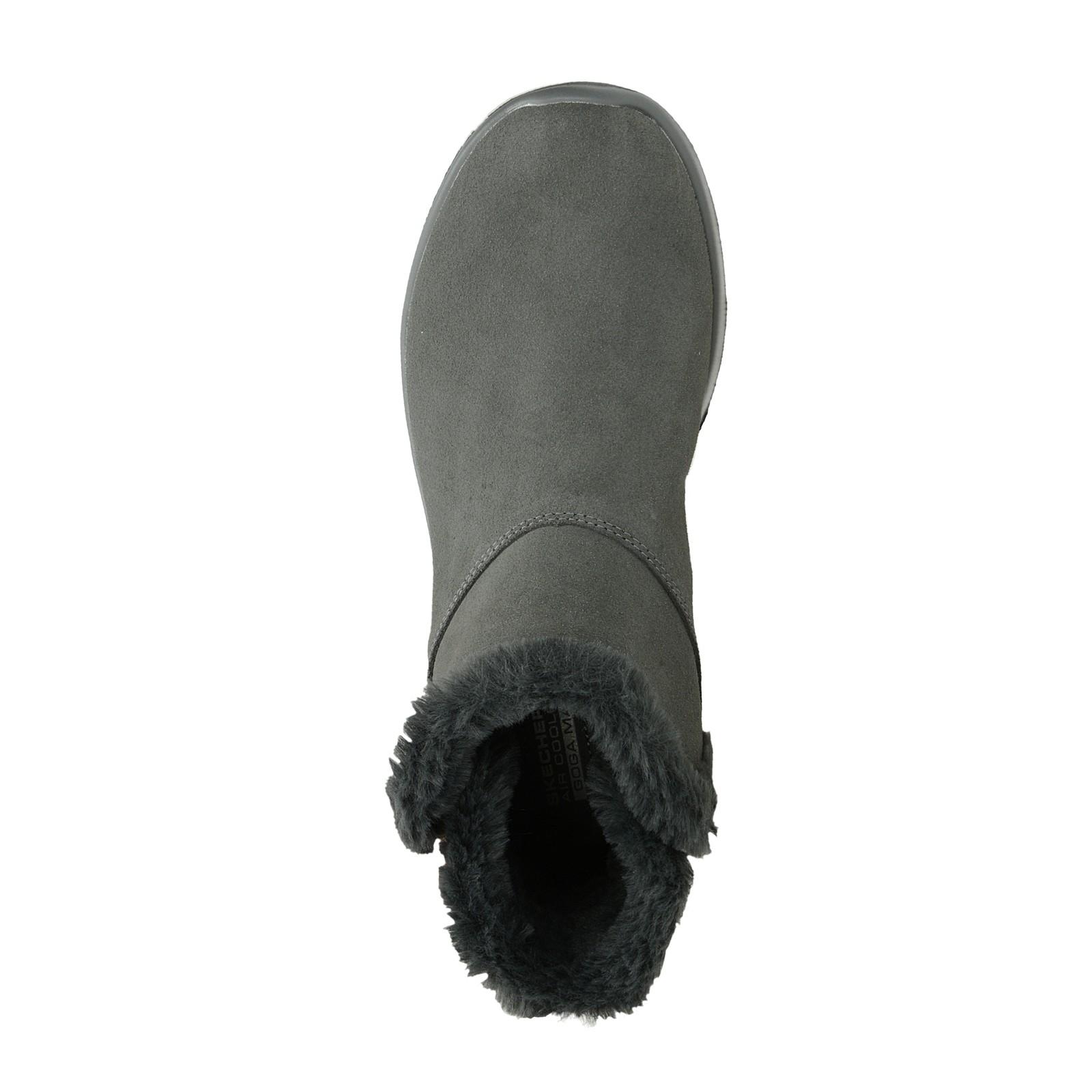 a81cdb6277d Skechers dámské semišové kotníkové boty - šedé ...