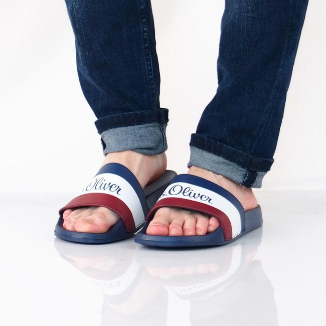 s. Oliver pánské pohodlné nazouváky - modré