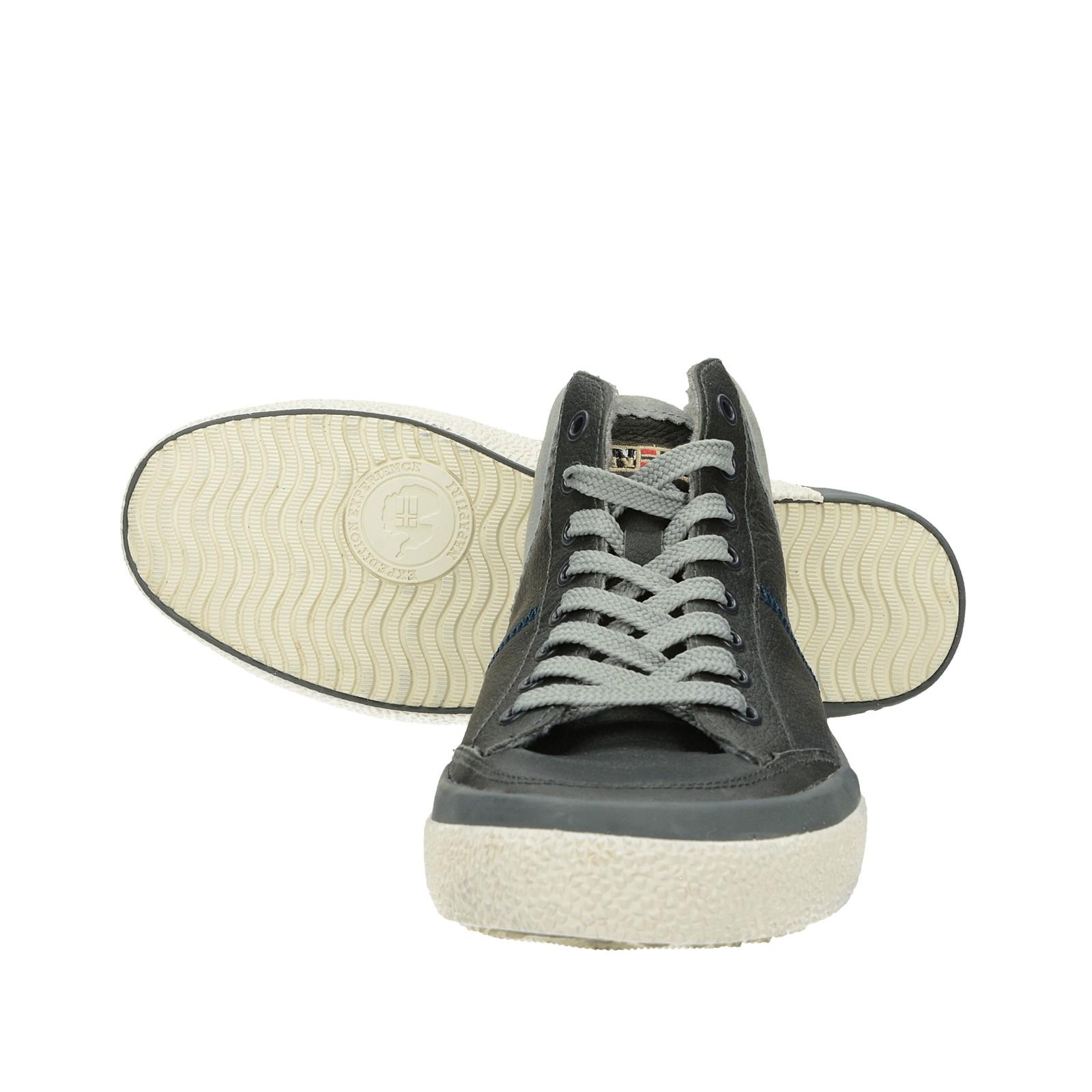 Napapijri pánské kožené zateplené tenisky - šedé
