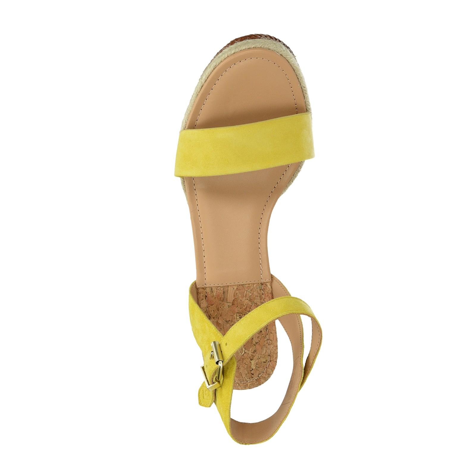 Gant dámské stylové sandály na klinové podrážce - žluté