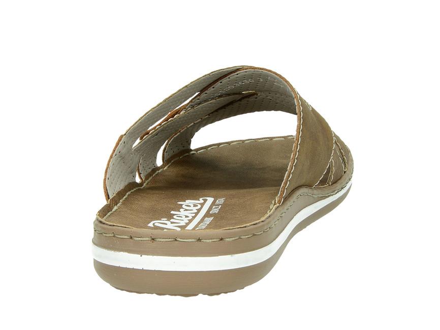 Rieker pánské pantofle/nazouváky - hnědé
