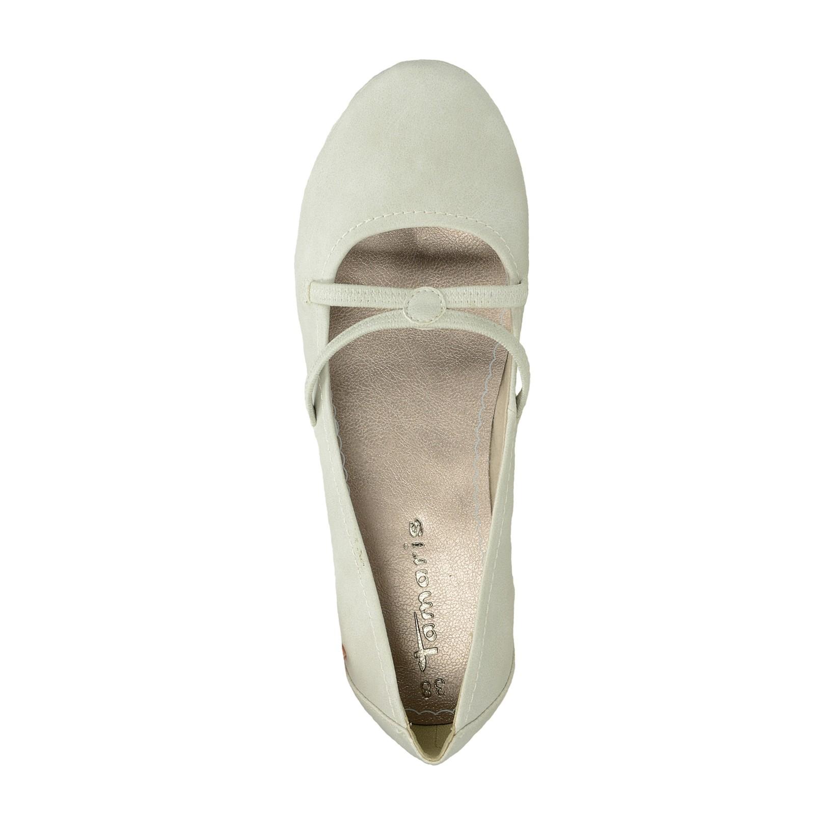 Tamaris dámské pohodlné balerínky - šedé
