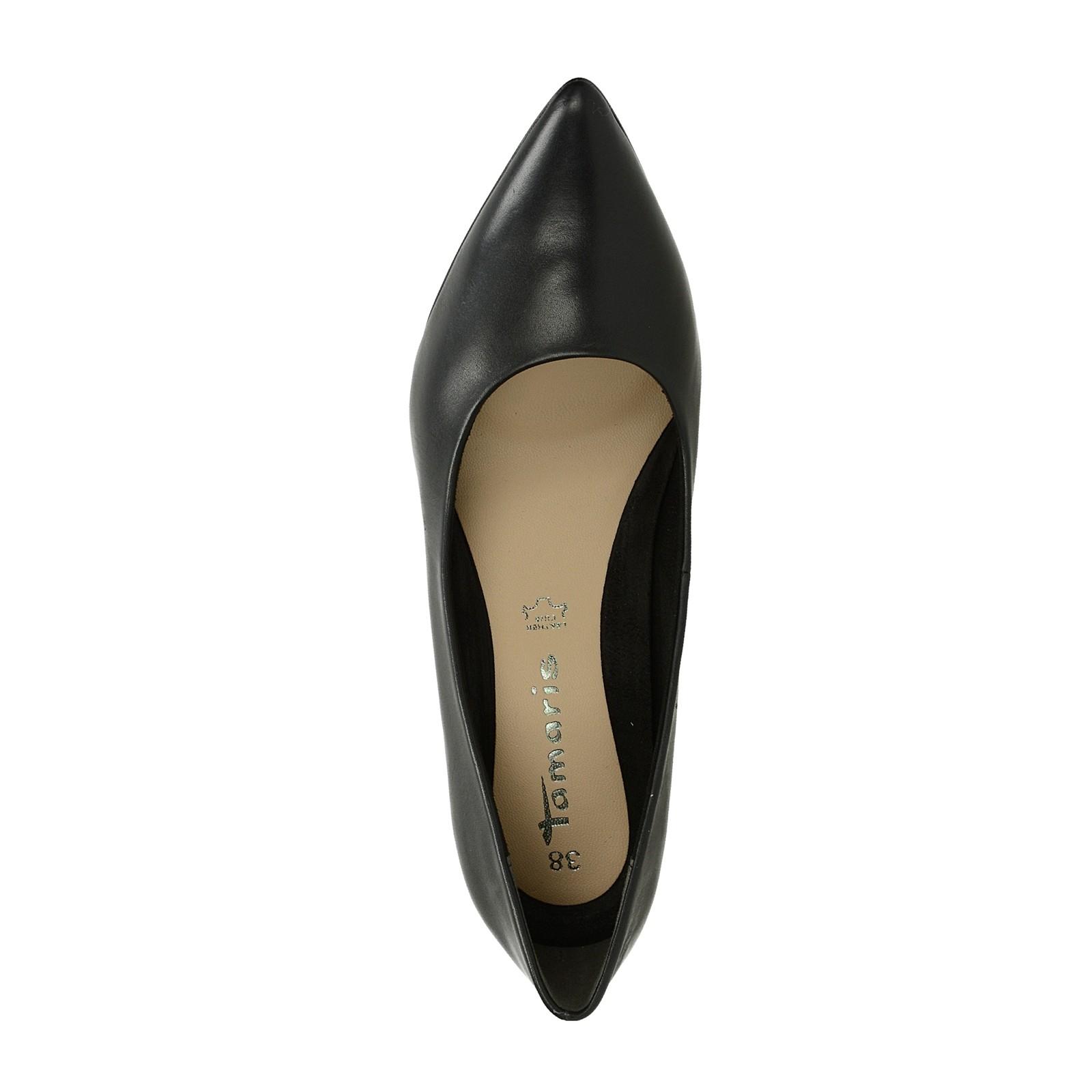 a95d4afc4c9 Dámské boty. Tamaris dámské kožené lodičky - černé ...