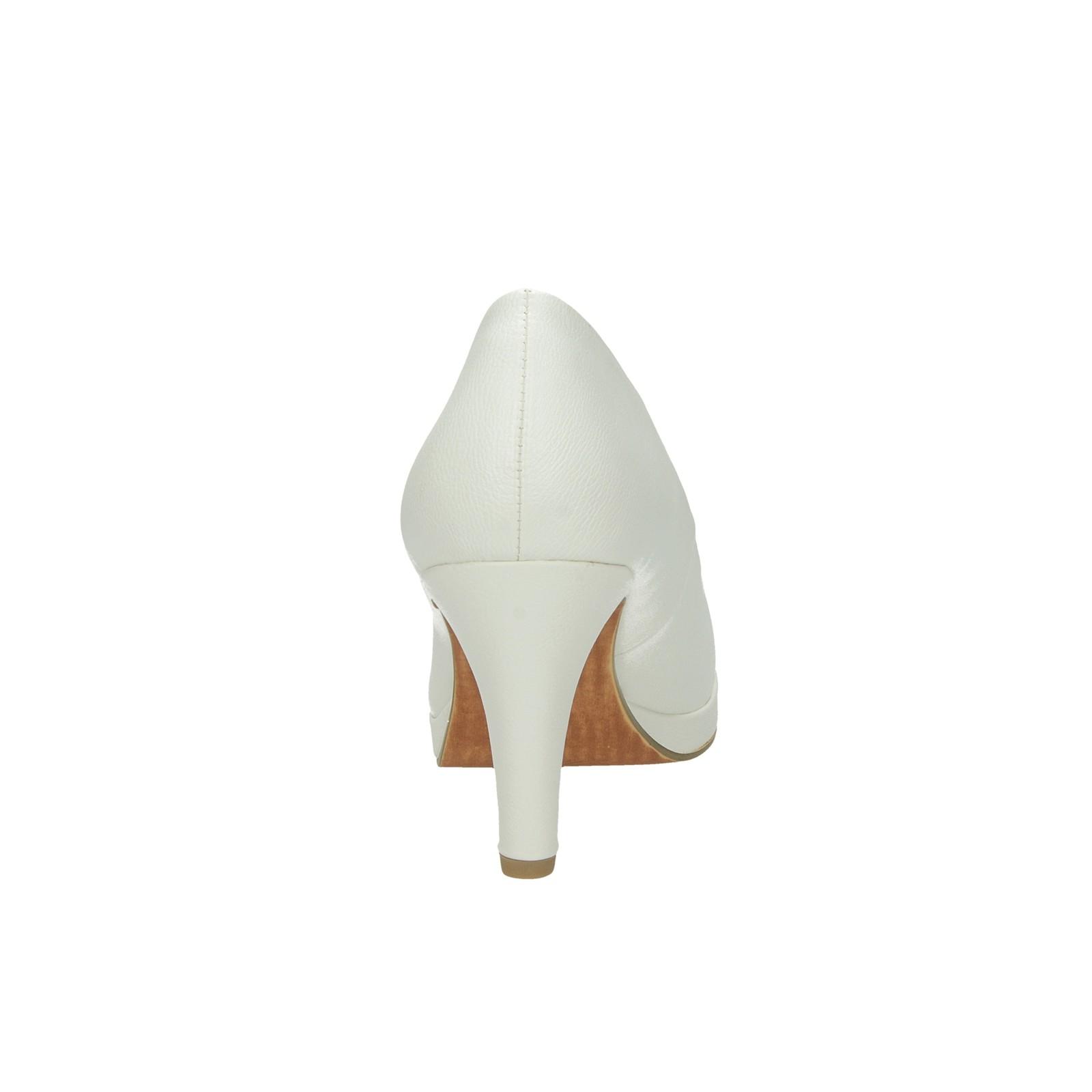 Marco Tozzi dámské pohodlné lodičky - bílé