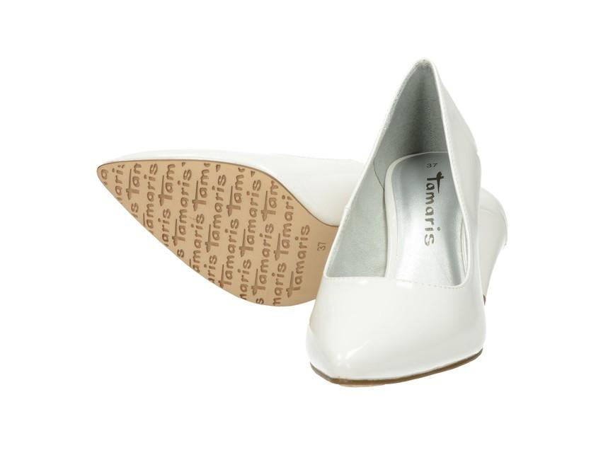 Tamaris dámské lodičky - bílé ... f95602a73c