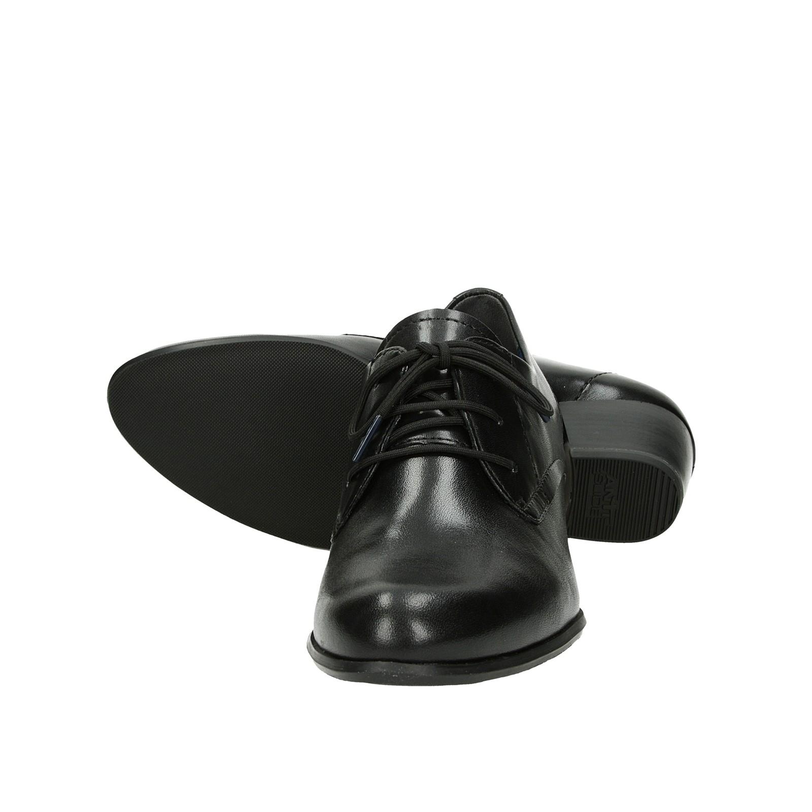 ... Tamaris dámské kožené polobotky na podpatku - černé ... d2de37328e