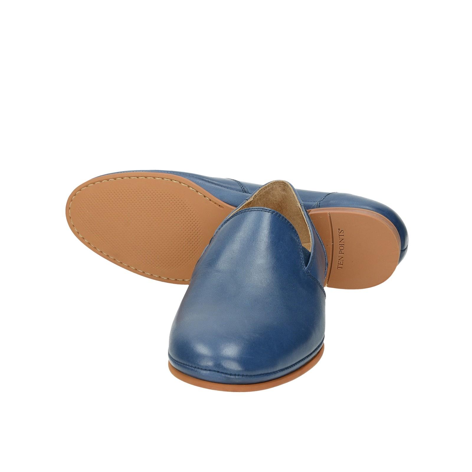Ten Points dámské kožené polobotky - modré