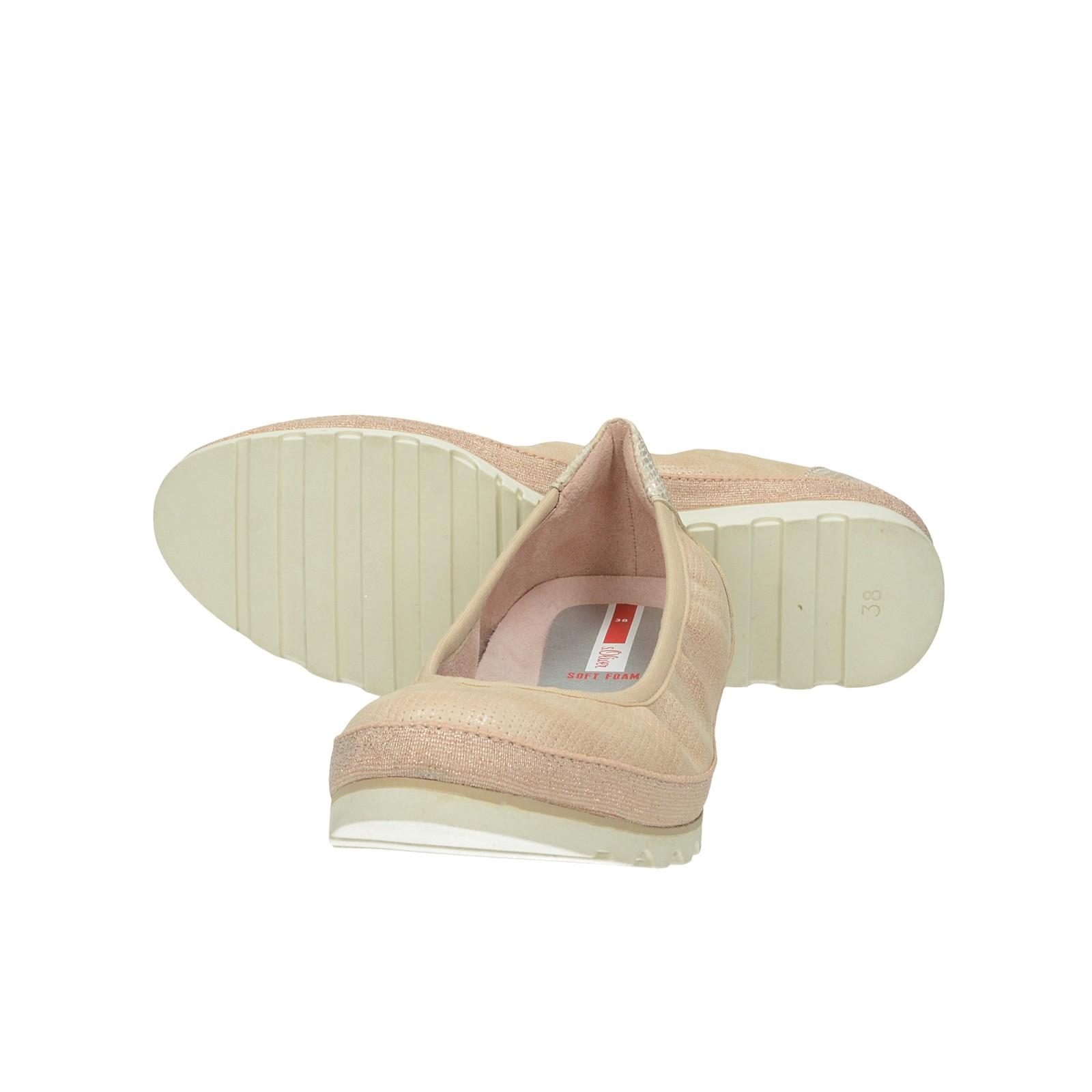 s.Oliver dámské stylové balerínky - růžové