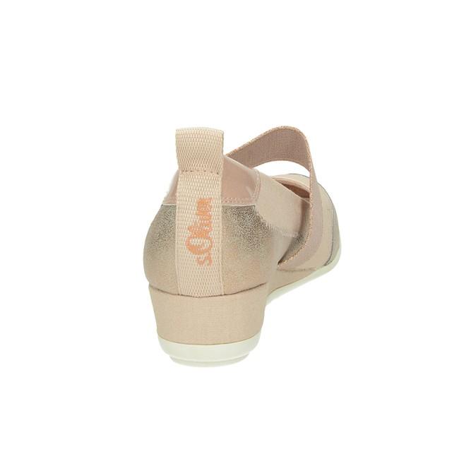 S.Oliver dámské balerínky na klinové podrážce - růžové