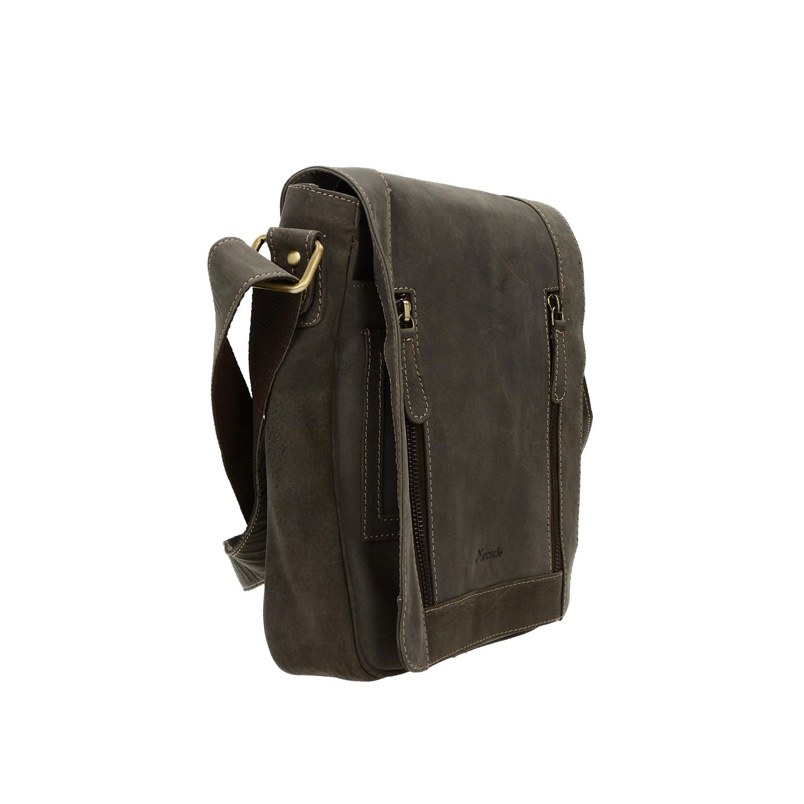 Mercucio pánská kožená praktická taška - hnědá