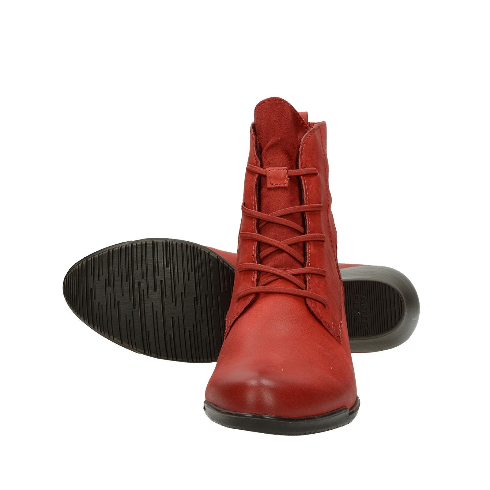13f9b59fd74 Tamaris dámské stylové kotníkové boty - červené ...