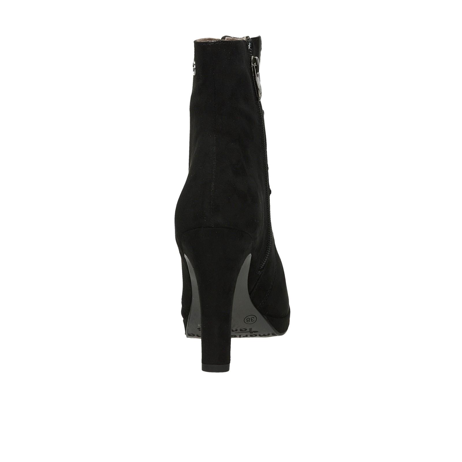 ... Tamaris dámské kotníkové boty na vysokém podpatku - černé ... 53f9b238ac
