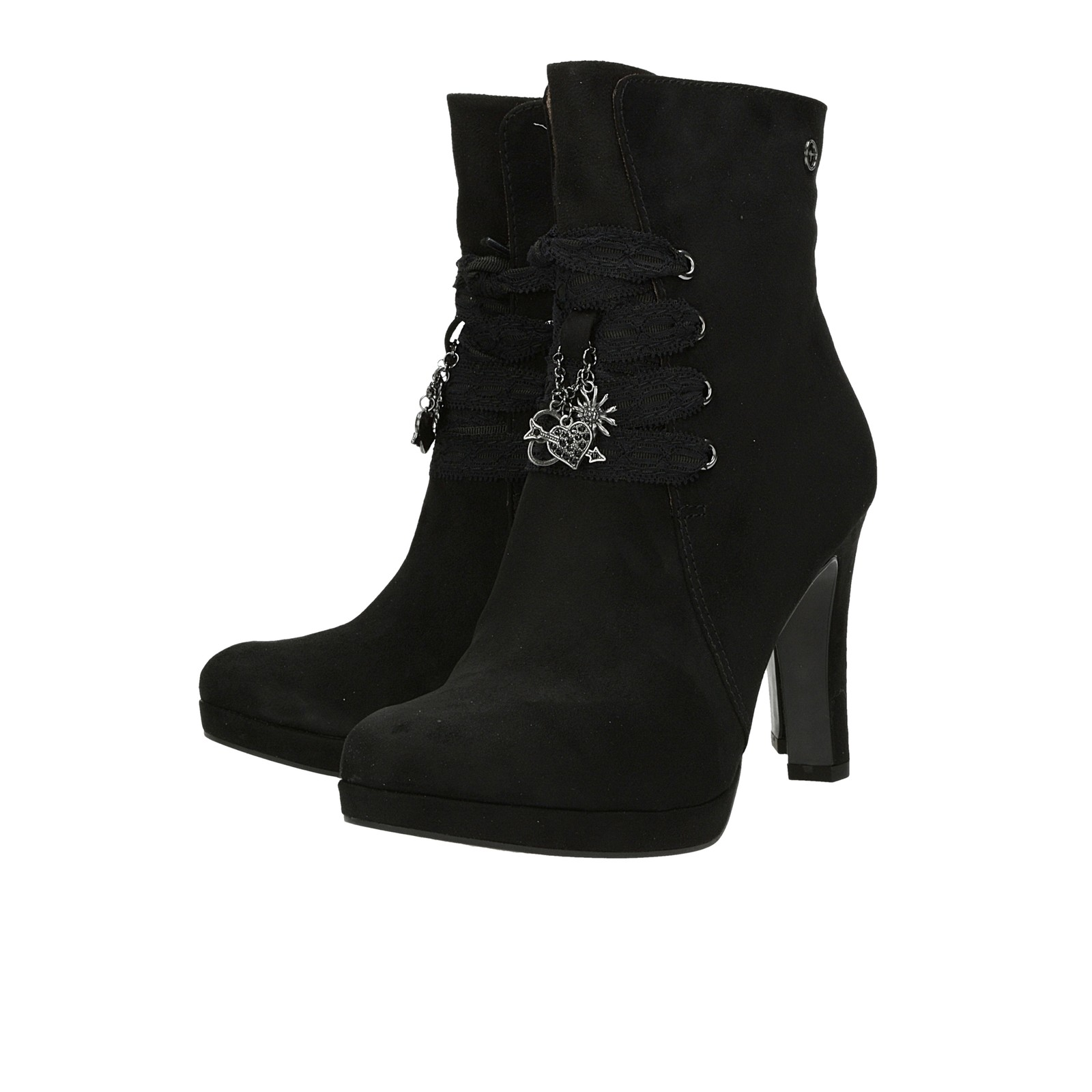 ... Tamaris dámské kotníkové boty na vysokém podpatku - černé ... b8da6e40e0