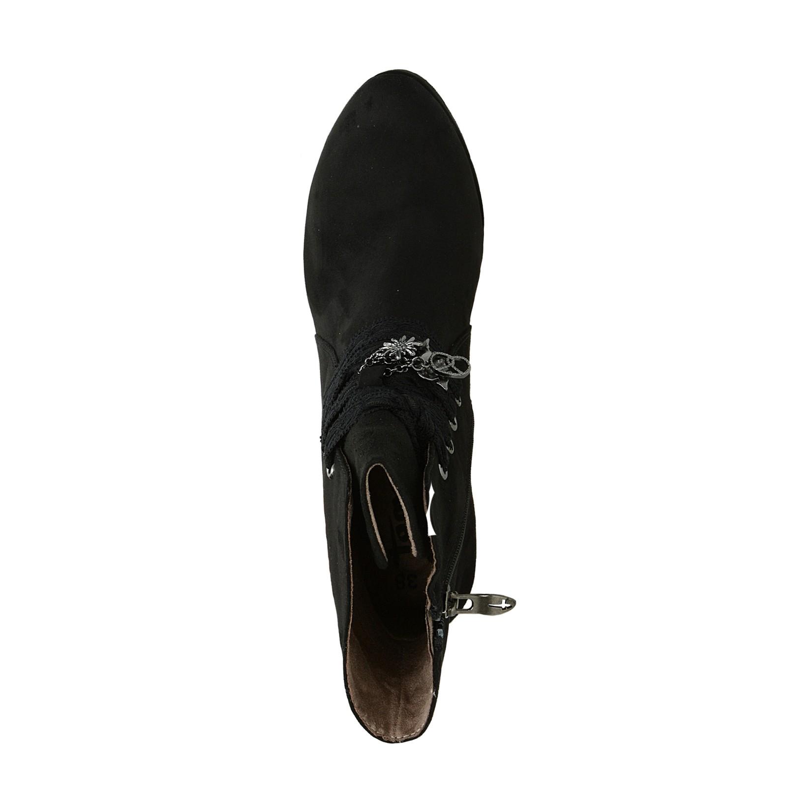 Tamaris dámské kotníkové boty na vysokém podpatku - černé ... 99923e995f