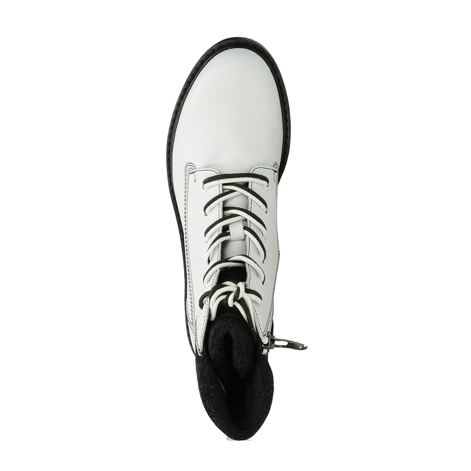 0cd578cf2d Tamaris dámské stylové nízké kozačky - bílé ...