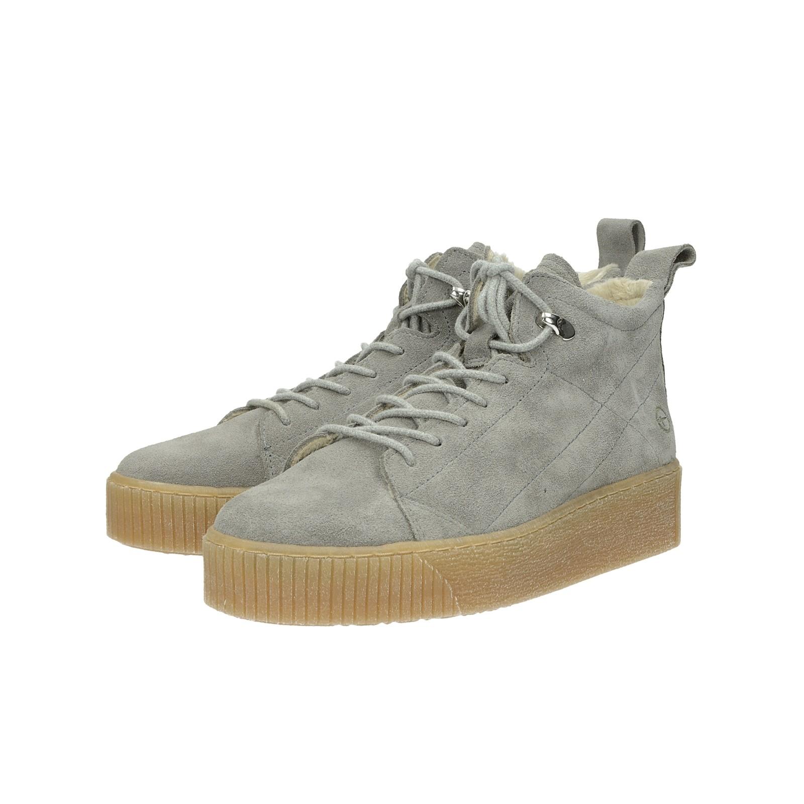 ecdff91ca1c2 ... Tamaris dámské semišové kotníkové boty - šedé ...