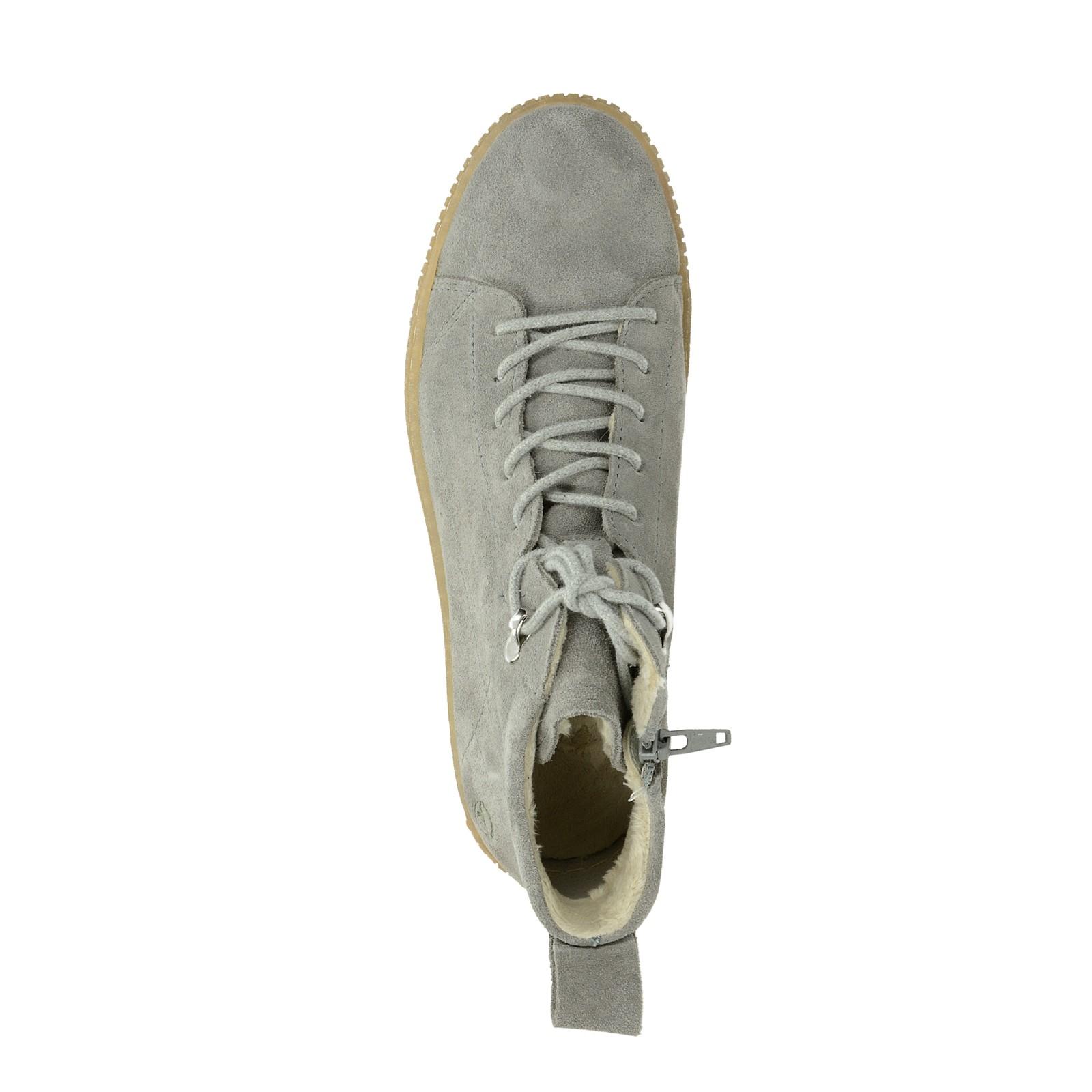 fce89c737b8b Tamaris dámské semišové kotníkové boty - šedé ...