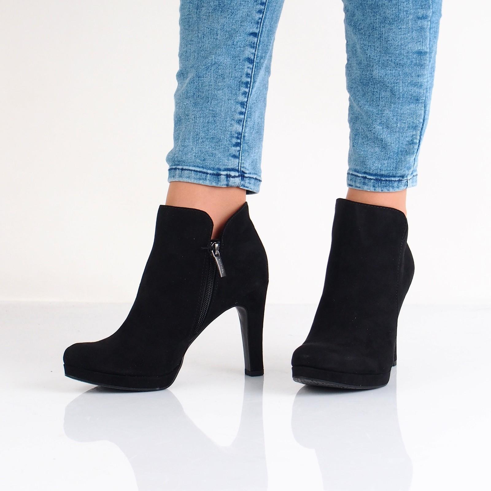 431b99402aa8 Tamaris dámské kotníkové boty na podpatku - černé ...