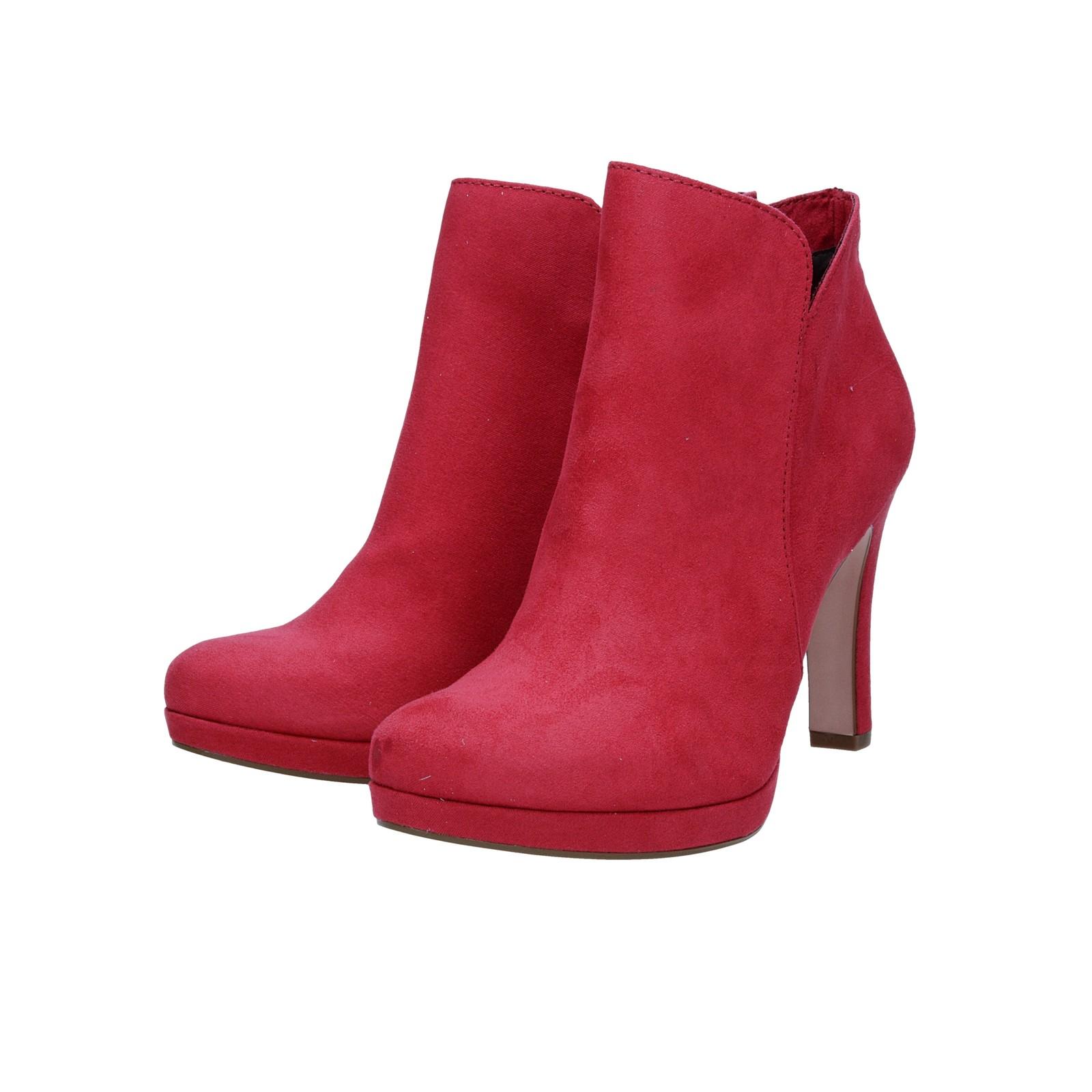Tamaris dámské stylové kotníkové boty - růžové
