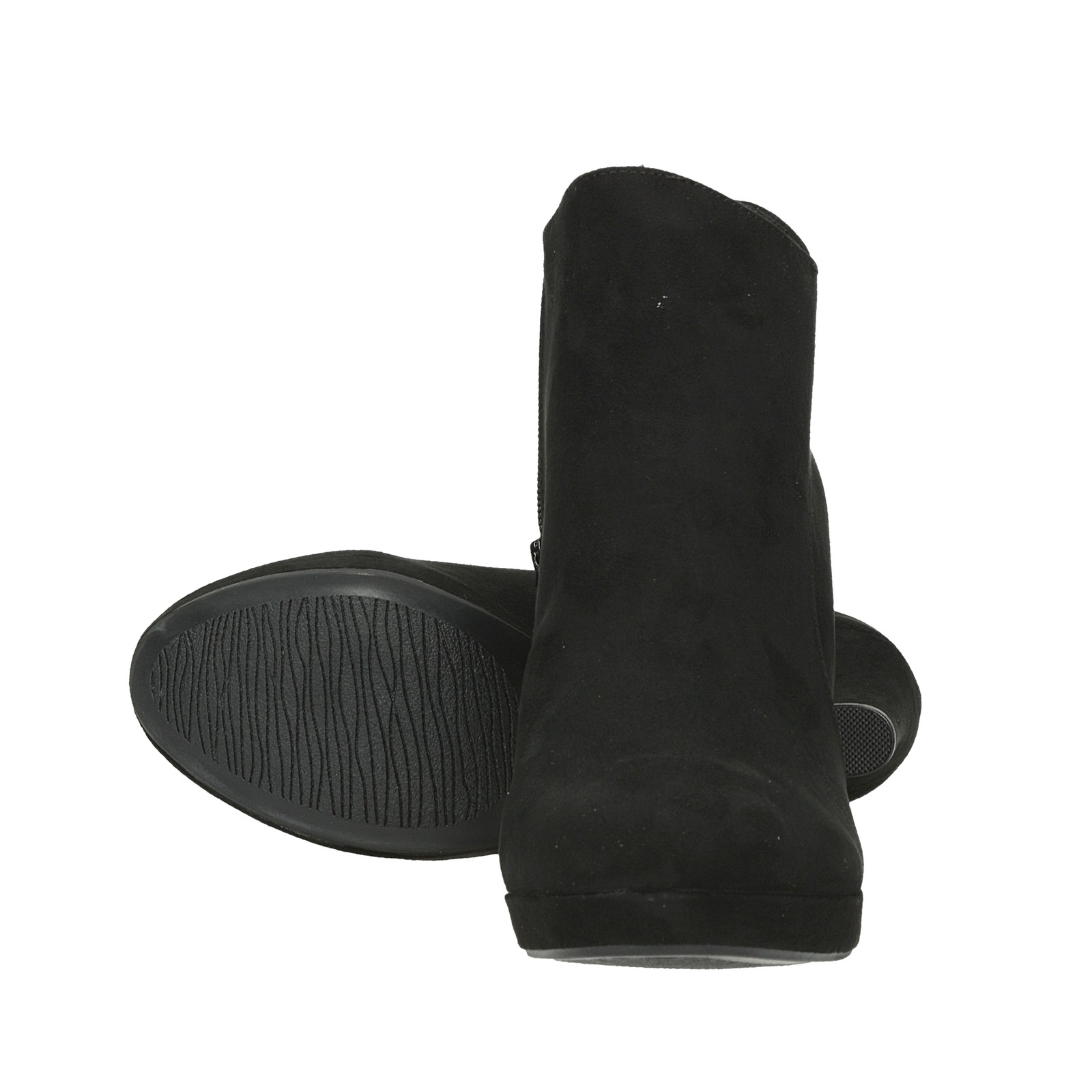 Kotníková obuv. Jane Klain dámské textilní kotníkové boty na vysokém  podpatku - černé ... d43f9674d8