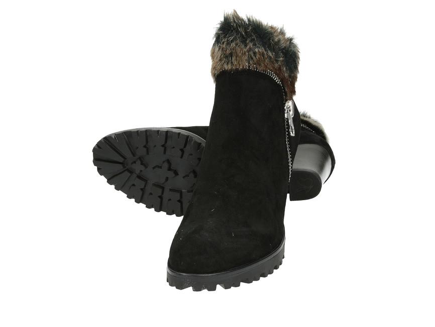 Caprice dámské kotníkové boty - černé