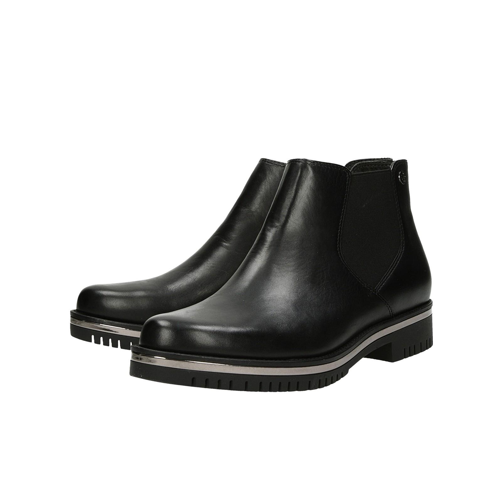 942e116294 ... Tamaris dámské kožené kotníkové boty - černé ...