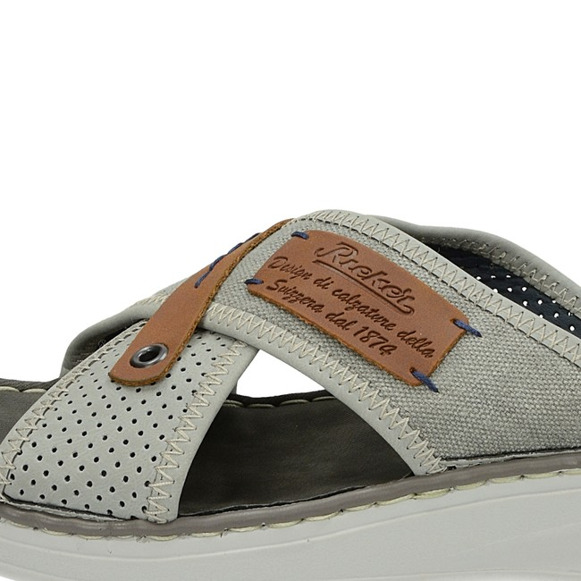 Rieker pánské stylové nazouváky - šedé