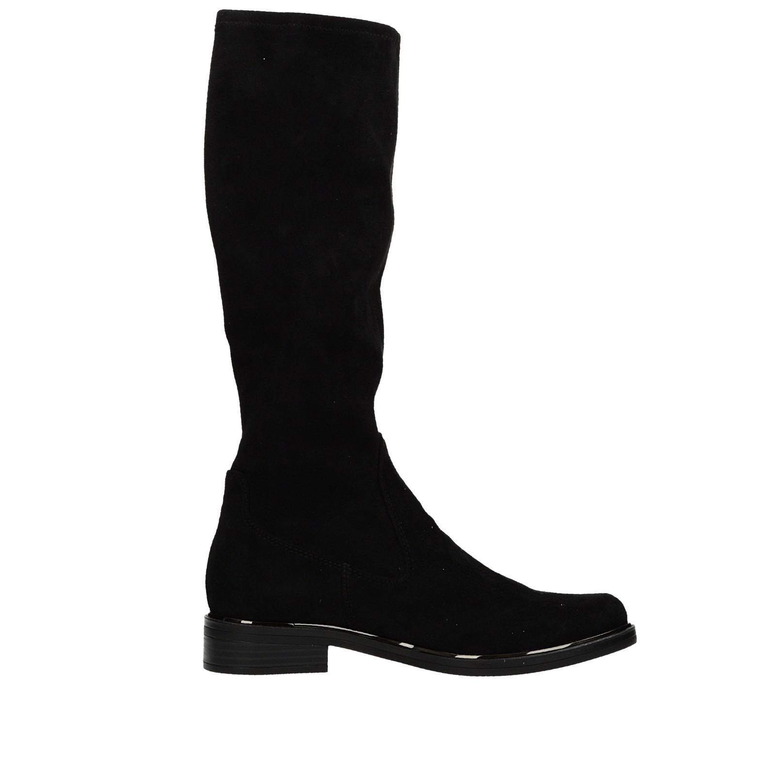 Caprice dámské pohodlné nízké kozačky - černé