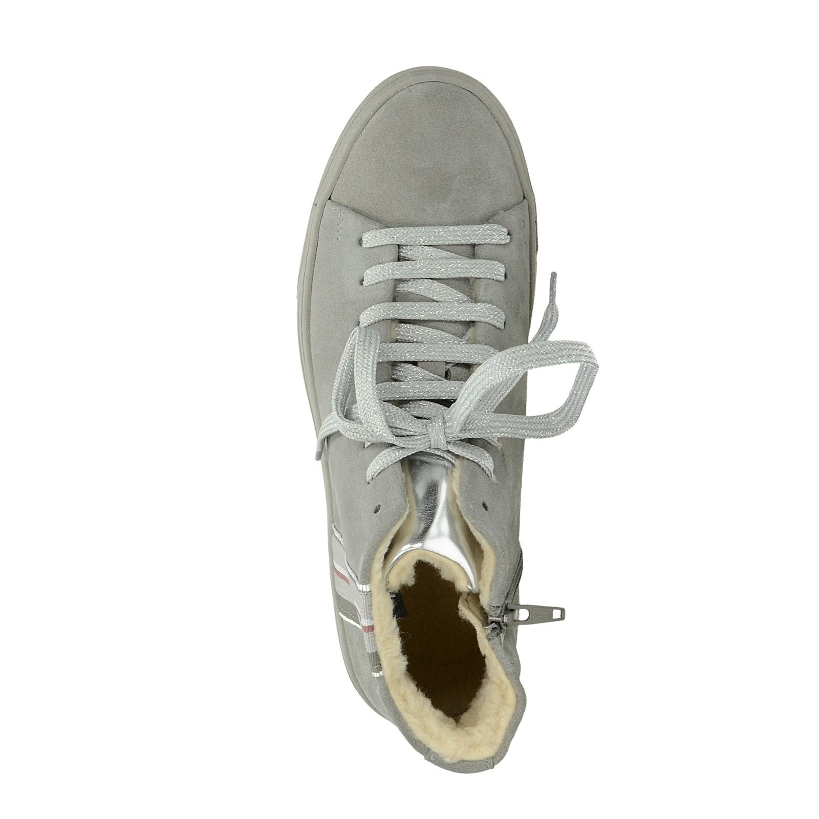 e88ee28280c Tamaris dámské stylové zateplené tenisky na zip - šedé ...