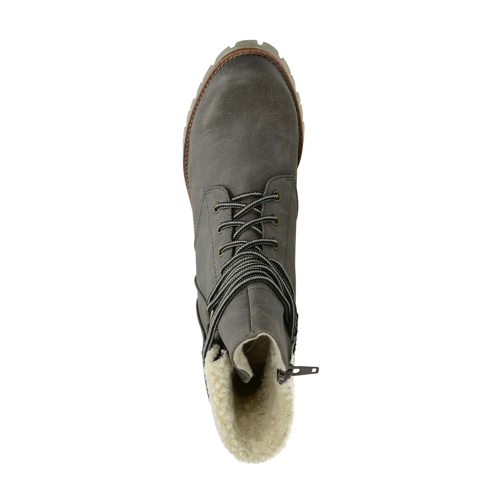 Oliver dámské zateplené kotníkové boty - šedé ... 5225ea9034