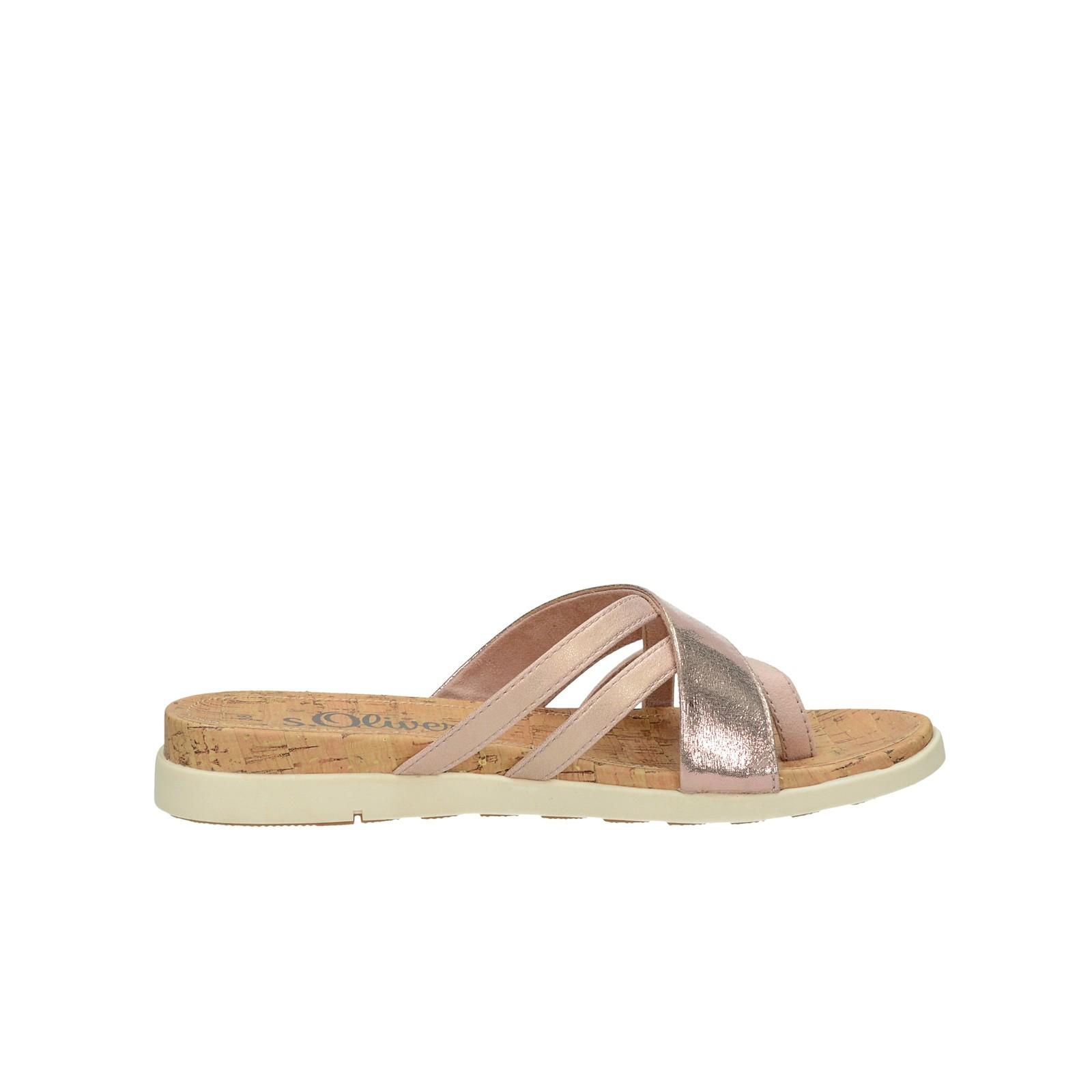 s.Oliver dámské stylové sandály - růžové