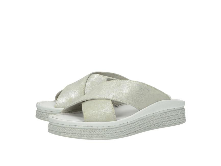 19e80ea53b Tamaris dámské pantofle nazouváky - stříbrné ...