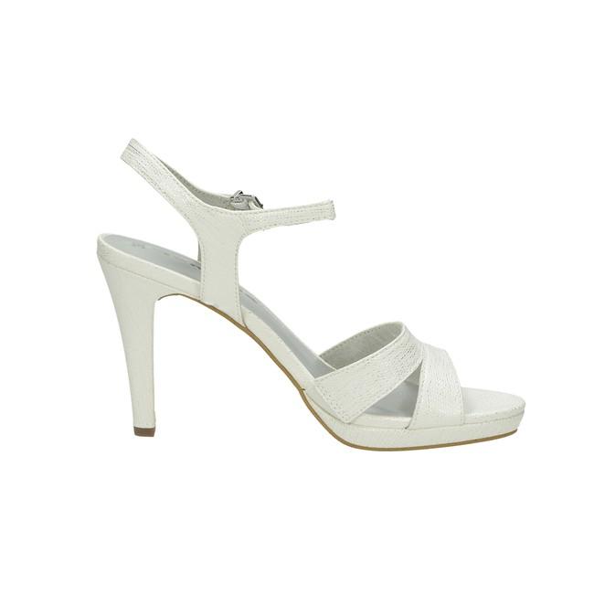 Tamaris dámské elegantní sandály na podpatku - bílé ... 3703d735c9